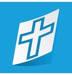 Christian cross sticker vector image vector image