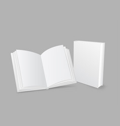 Closed and open book vector