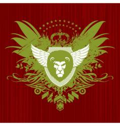 heraldry with lion head vector image