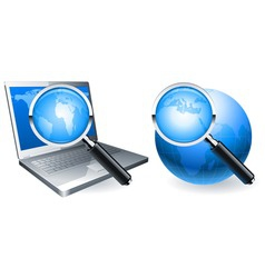 search icons vector image vector image