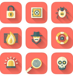 Set of App Security Icons vector image vector image