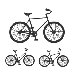 Bicycle silhouette set vector image vector image