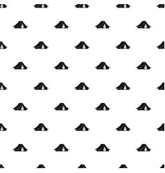 camping tent pattern vector image