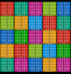 Freight shipping stacked seamless cargo container vector image vector image