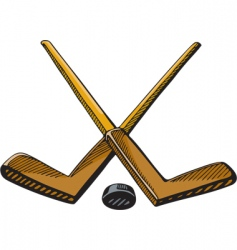 hockey sticks vector image