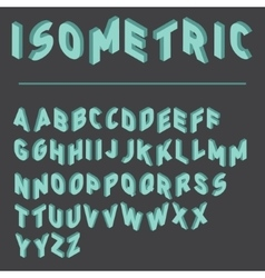 isometric font with two versions of each letters vector image