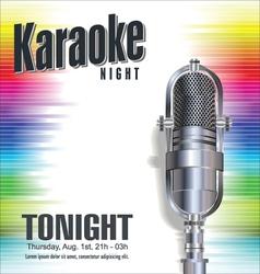 Karaoke colorful background vector image vector image