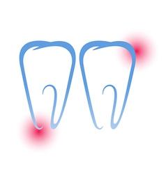 Sick teeth vector image vector image