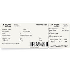 airline boarding pass ticket vector image