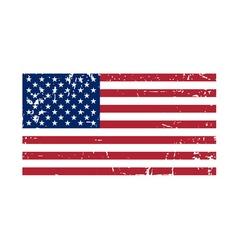 Flag usa sign grunge national symbol vector