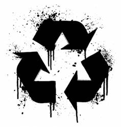 recycle grunge symbol vector image vector image