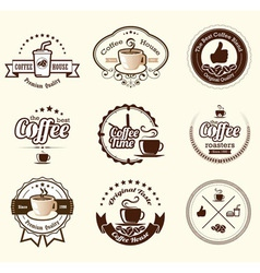 Set of vintage retro coffee badges and labels vector image vector image