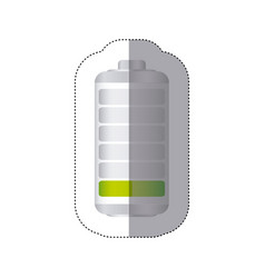 Sticker battery symbol with level low energy vector
