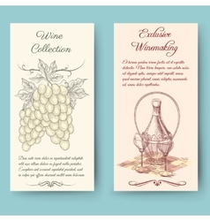 Wine and wine making vertical banners vector image