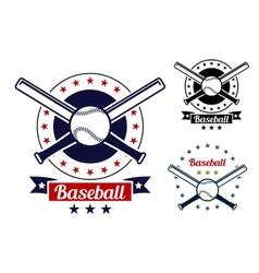 Baseball sport team badges vector image