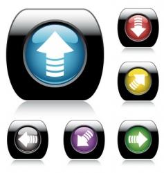 button arrow set vector image vector image