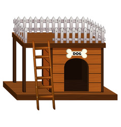 dog house made of wood vector image vector image