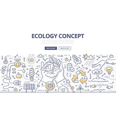 Ecology Doodle Concept vector image
