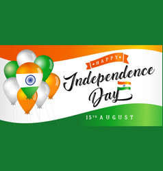15th august india independence day banner vector