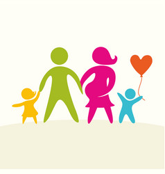 a happy family life vector image