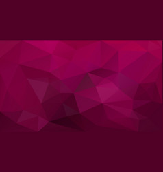 Abstract irregular polygonal background burgundy vector