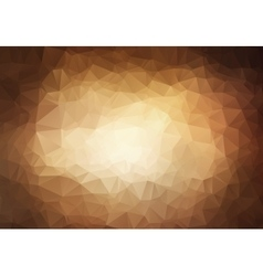 Abstract triangle brown background vector