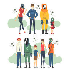 Antivirus characters in different situations vector