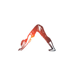 arch yoga exercise pose healthy concept hand vector image
