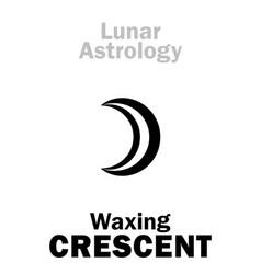 Astrology waxing crescent moon vector