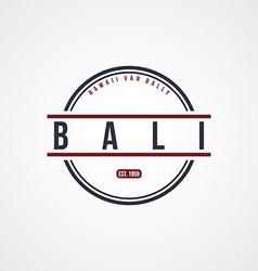 Bali badge indonesia label theme vector