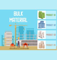 Bulk building materials shop advertising banner vector
