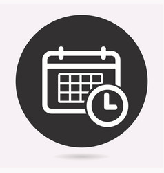 Calendar clock symbol vector