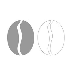 Coffee bean the grey set icon vector
