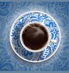 Coffee gzhel vector image