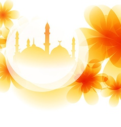 Colorful mosque design vector
