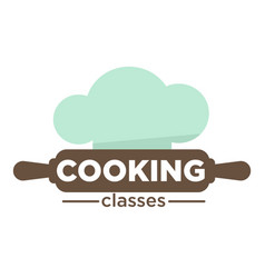 Cooking classes isolated icon rolling pin and chef vector