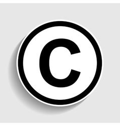 Copyright sign Sticker style icon vector