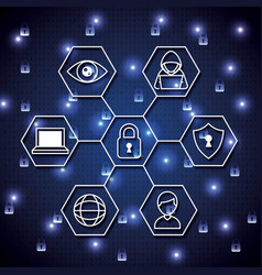 cyber security digital vector image