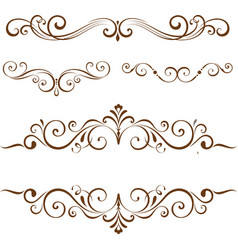 decorative floral element for your design vector image