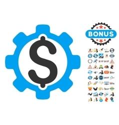 Development Price Icon With 2017 Year Bonus vector image