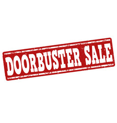 doorbuster sale stamp vector image