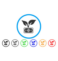 eco startup gain rounded icon vector image