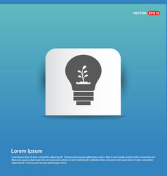 ecology bulb icon - blue sticker button vector image