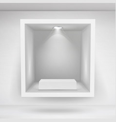empty niche realistic clean shelf niche vector image