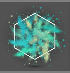 explosion of colored powder vector image