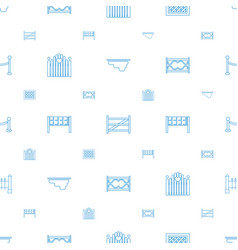 fence icons pattern seamless white background vector image