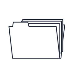 folder file document paper office outline vector image