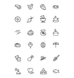 Food Hand Drawn Outline Icons 7 vector image