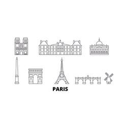 France paris line travel skyline set france vector