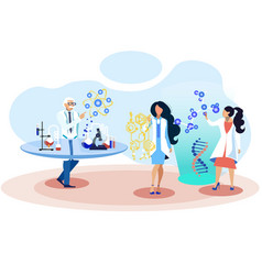 futuristic work chemistry science development vector image